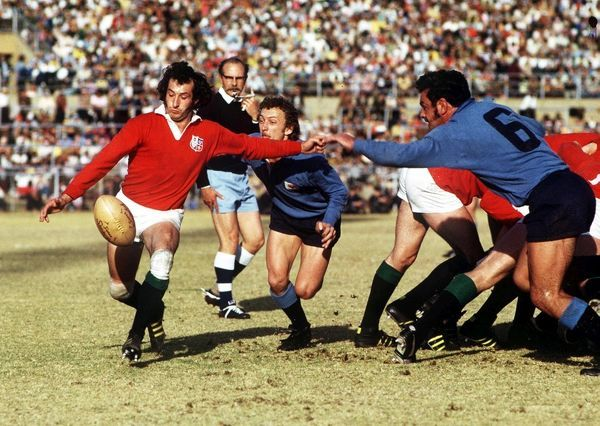 Rugby Union - 1974 British Lions Tour to South Africa - Northern Transvaal 12 British Lions 16 (6/7/74) British Lions scrum half Gareth Edwards clears the ball during the game in Pretoria