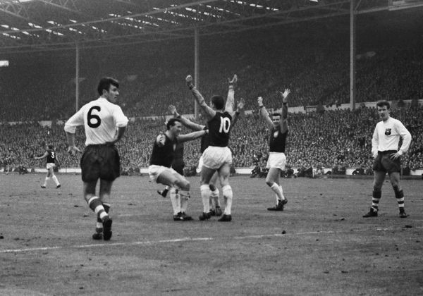 Geoff Hurst celebrates his goal - 1964 FA Cup Final