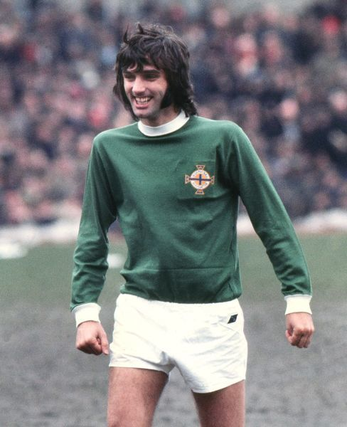 Football - 1970 British Home Championship - Wales 1 Northern Ireland 0 Northern Ireland's George Best at Vetch Field, Swansea
