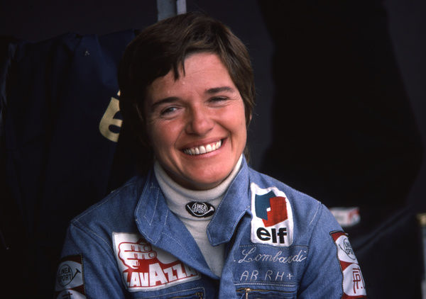 Motorsport - 1975 Formula One (F1) World Championship - German Grand Prix     Italy's Lella Lombardi of March, at the Nurburgring, West Germany. She finished in 7th place.     Lombardi was the second woman, after Maria Teresa de Filippis
