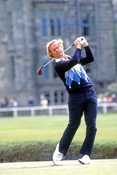 Golf - The Open Championship 1978 - Old Course at St Andrews Jack Nicklaus of the USA with the clubhouse behind