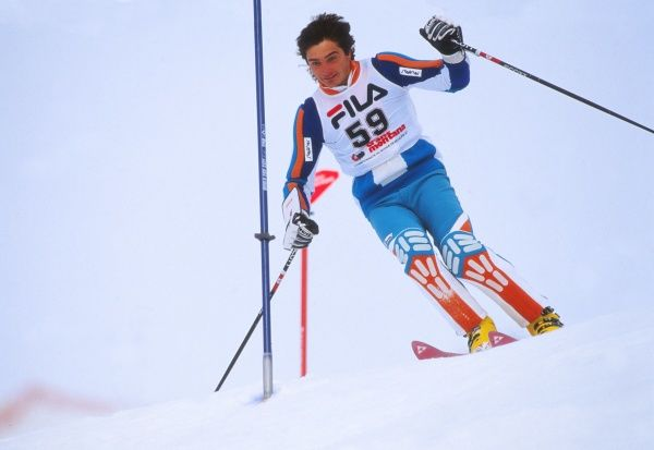 Mens Skiing : World Championships 1987 Slalom Combined @ Crans Montana  Graham Bell - GBR