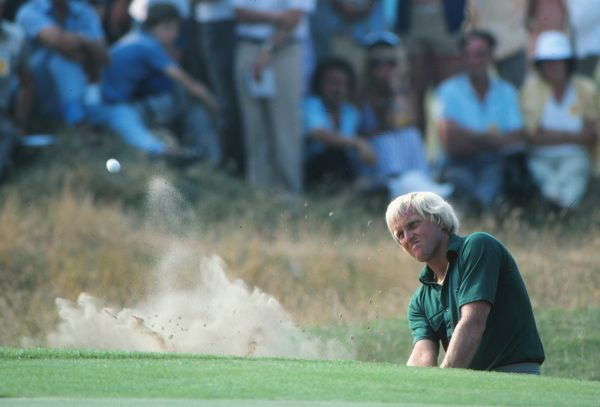 Golf - The Open Championship 1983 Greg Norman plays a bunker shot at Royal Birkdale