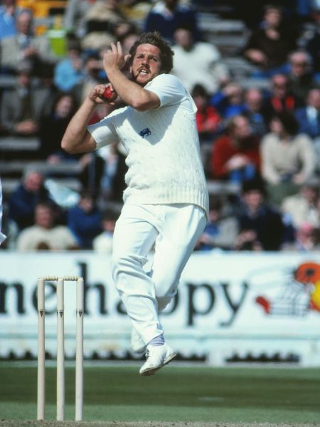 Cricket - 1981 Ashes, 4th Test - England vs. Australia England's Ian Botham bowls on the final day of the match at Edgbaston