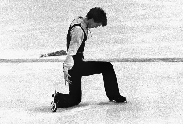 Figure Skating - 1976 Innsbruck Winter Olympics - Men's Singles Great Britain's gold medal winner John Curry during the final free skating phase of the competition at the Olympic Ice Stadium, Innsbruck, Austria. 11/02/1976