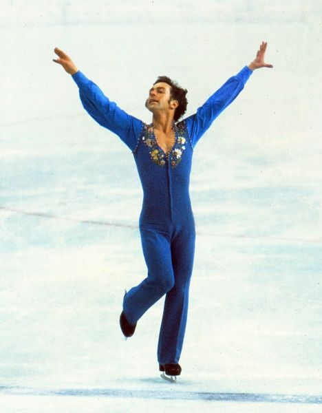 Figure Skating - 1976 Innsbruck Winter Olympics - Men's Singles Canada's bronze medal winner Toller Cranston during the final free skating phase of the competition at the Olympic Ice Stadium, Innsbruck, Austria. 11/02/1976