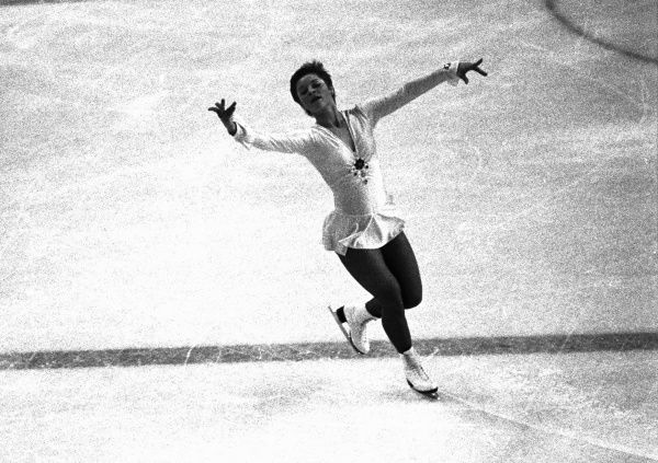 Figure Skating - 1976 Innsbruck Winter Olympics - Women's Singles East Germany's Christine Errath who won the bronze medal, during the free skating phase in the Olympic Ice Stadium, Innsbruck, Austria. 13/02/1976