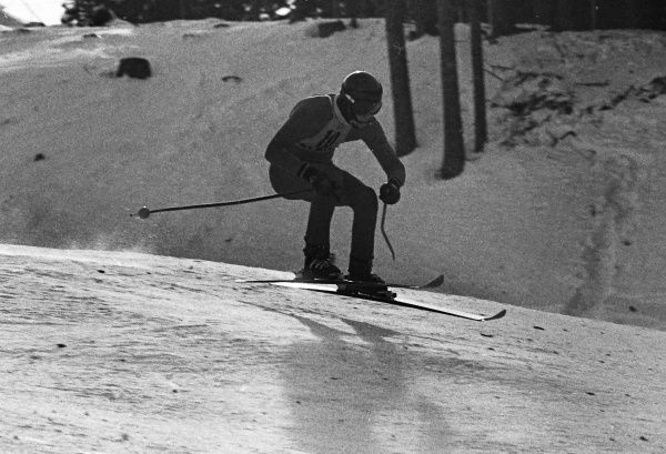 Alpine Skiing - 1976 Innsbruck Winter Olympics - Men's Downhill Training West Germany's Michael Veith at the Patscherkofel, Igls, Austria. He would finish in tied 22nd place in the Downhill competition the next day. 04/02/1976