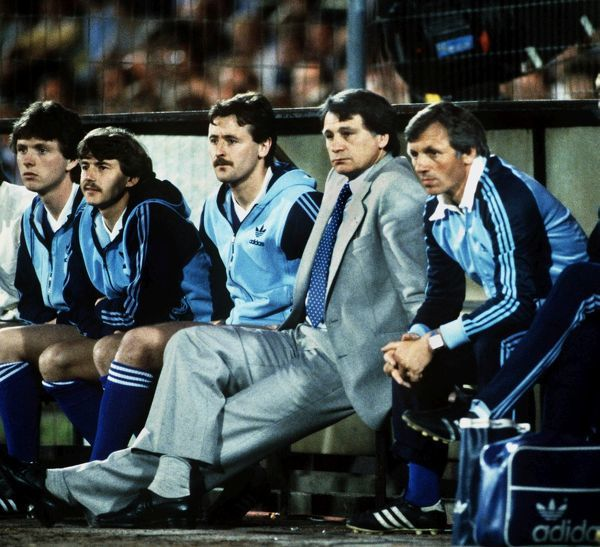 Ipswich manager Bobby Robson watches the 1981 UEFA Cup Final