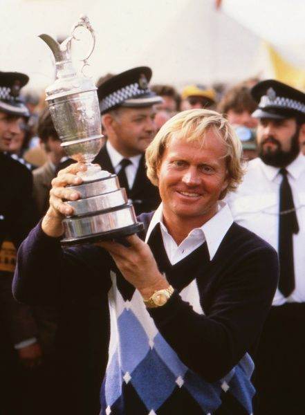 Jack Nicklaus (USA) with the trophy.  British Open Golf Championships; 15 July 1978; St Andrews  Golf Credit : Colorsport