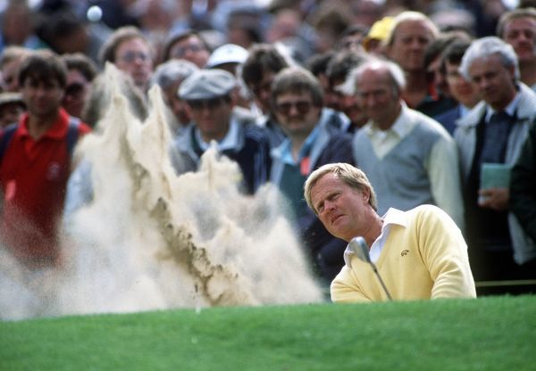 Jack Nicklaus (USA) Golf, The Open Championship, Royal Lytham St. Annes, 1/7/1988. Credit: Colorsport