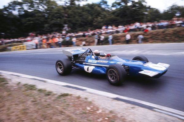 Motorsport - Formula One F1 Grand Prix - 1970 British Grand Prix Jackie Stewart driving a March Ford at Brands Hatch