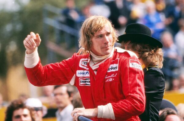Motor Racing/Formula 1 GB's James Hunt (McLaren-Ford) 1976 British Grand Prix Brands Hatch Hunt won but two months later was disqualified due to an incident at the start of the race, giving the win to Niki Lauda
