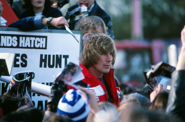 Motor Racing - 1976 Formula One (F1) World Championship - British Grand Prix McLaren's James Hunt among the fans after winning the race at Brands Hatch