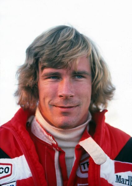 Motor Racing - 1977 Formula One (F1) World Championship Reigning World Champion, McLaren's James Hunt, during a photocall