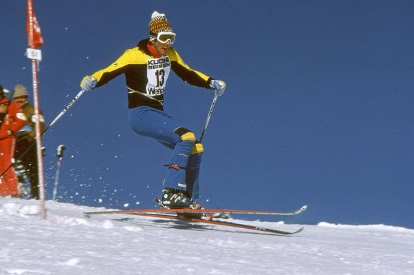 Alpine Skiing - 1974 FIS World Cup - Wengen Sweden's Jan Ingemar Stenmark in the men's Slalom at Wengen, Switzerland