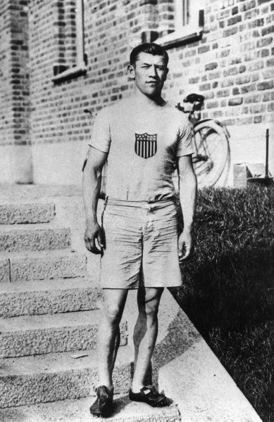 OLYMPICS 1912, STOCKHOLM. JIM THORPE (USA). CREDIT: COLORSPORT
