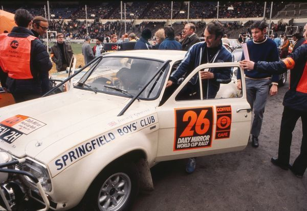 Motorsport - 1970 London to Mexico Daily Mirror World Cup Rally England and Spurs footballer Jimmy Greaves climbs into his car at the start of the race in Wembley Stadium
