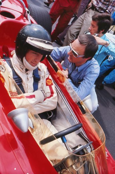 Motorsport - Formula One F1 World Championships - British Grand Prix 1970 Jochen Rindt of Austria sits in his Lotus Ford before winning the race at Brands Hatch. Rindt was killed later that season in a crash during practice for the Italian Grand Prix in Monza