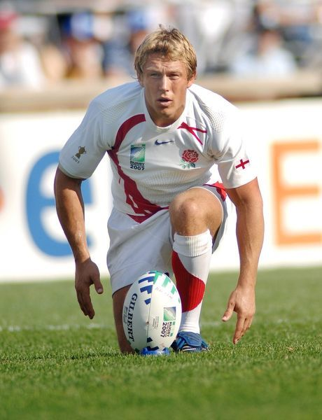 Jonny Wilkinson (England) lines up his kick. England v Australia 6/10/07. Rugby Union World Cup finals 2007 Marseilles France. Credit : Colorsport / Andrew Cowie