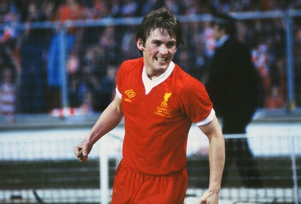 Kenny Dalglish celebrates scoring in the 1978 European Cup Final