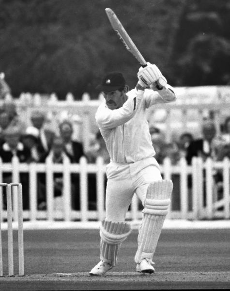 Cricket - 1981 John Player League - Kent beats Nottinghamshire by 6 wickets    Clive Rice bats for Notts at St Lawrence Ground, Canterbury.    12/07/1981