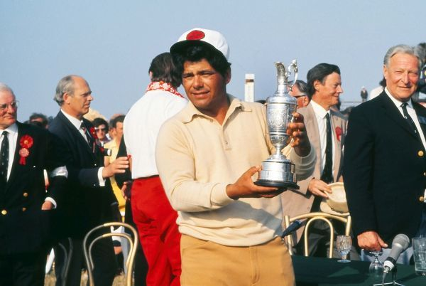 Golf Lee Trevino (USA) with the trophy British Open Golf Championships @ Muirfield 15/07/1972  Credit : Colorsport