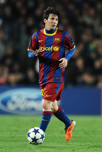 Football - UEFA Champions League - Barcelona vs. Arsenal Lionel Messi of Barcelona at the Camp Nou, Barcelona