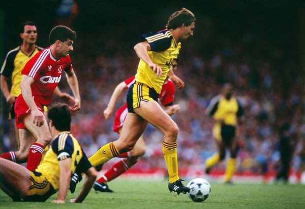 Football - 1988 / 1989 First Division - Liverpool 0 Arsenal 2    Tony Adams of Arsenal, at Anfield.    26/05/1989
