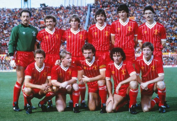 Football - 1984 European Cup Final - Liverpool 1 Roma 1 (Liverpool won on penalties a.e.t.) The Liverpool team line-up before the match in the Stadio Olimpico, Rome. Back Row (left to right): Bruce Grobbelaar, Alan Kennedy, Kenny Dalglish, Mark Lawrenson