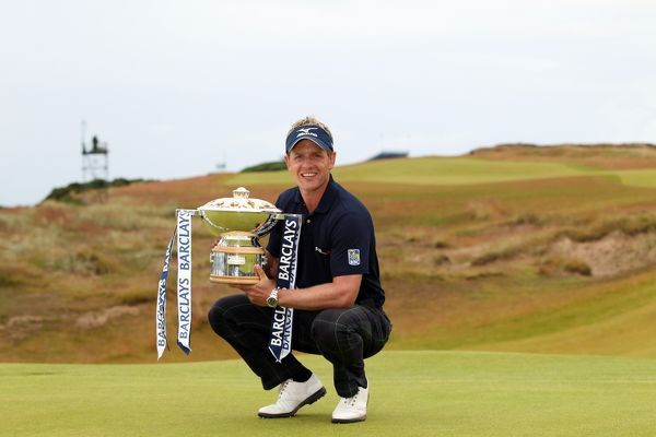 Golf - Scottish Open - Castle Stuart Links Luke Donald with The Barclays Scottish Open trophy at Castle Stuart Golf Course on the fourth day of the 2011 Scottish Open
