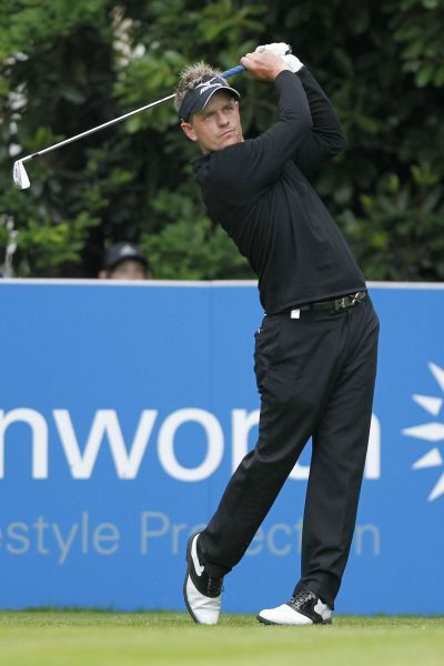 Golf - BMW PGA Championship  Luke Donald of England tees off on the 16th hole at Wentworth Club, Surrey