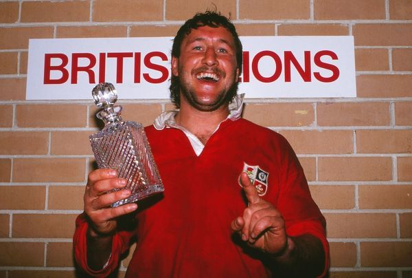 Rugby union Mike Teague receives the Man of the match award after victory which gave them the series 2-1.  AUSTRALIA v BRITISH LIONS 3rd Test, Sydney; 15/07/1989.  1989 British Lions Tour of Australia