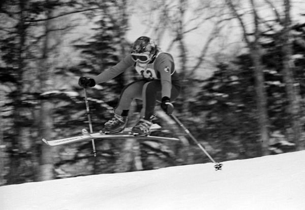 Alpine Skiing - 1972 Sapporo Winter Olympics - Women's Downhill Switzerland's gold medal winner Marie-Theres Nadig at Mount Teine, Japan