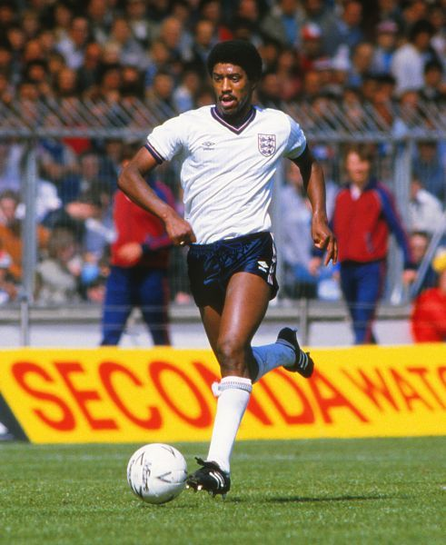 Football - England v USSR  Mark Chamberlain of England in action