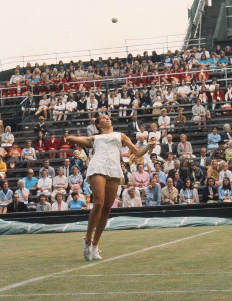 Tennis - 1970 Wightman Cup - Wimbledon The USA's Mary Ann Curtis. The USA beat Great Britain 4-3. 13/06/1970