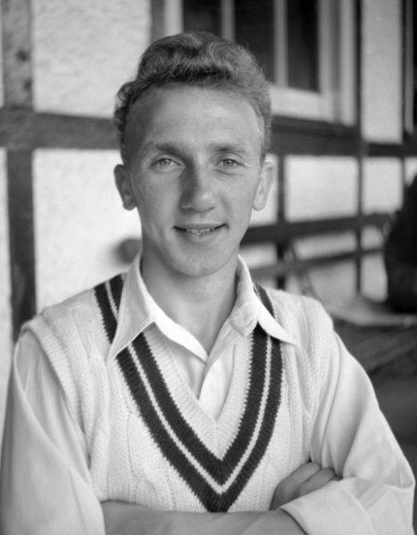 Football - 1955 season - Surrey C.C.C. Photocall Michael 'Micky' Stewart. Father of Alec, and later England cricket team manager. Also played football for Charlton Athletic and Corinthian Casuals