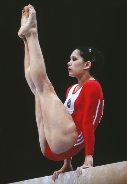 Nellie Kim At The 1980 Moscow Olympics Gymnastics 1980