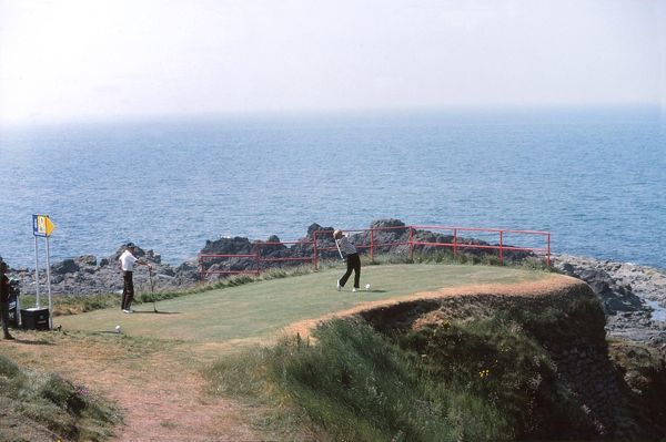 Golf - The Open championship The 9th Tee.  British Open Golf Championships 1977 @ Turnberry  09/07/1977 Credit : Colorsport