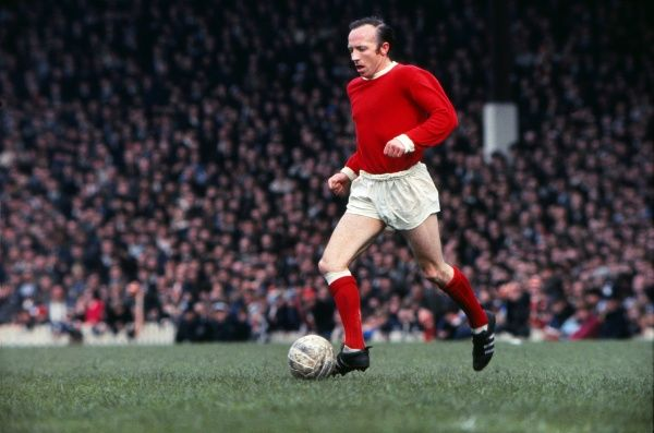 Nobby Stiles (Man Utd)  Manchester United v Leicester City. 17/05/1969. Credit : Colorsport