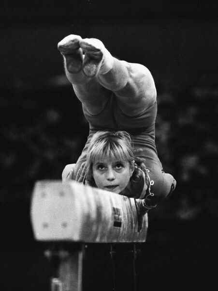 Gymnastics - 1973 Women's European Championships - Wembley The USSR's Olga Korbut on the balance beam
