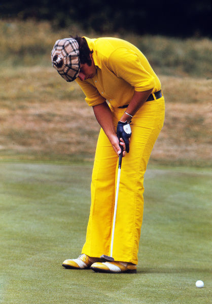 Golf - 1973 Open Championship - Royal Troon Golf Club Scotland's Sam Torrance in an all-yellow outfit. 08/07/1973