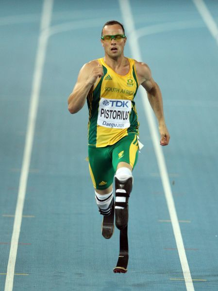 Athletics - World Championships 2011 - Daegu - Day Three Oscar Pistorius of South Africa competes in the semi final of the Men's 400m, during day three of The Athletics World Championships in Deagu, South Korea on 29th August 2011