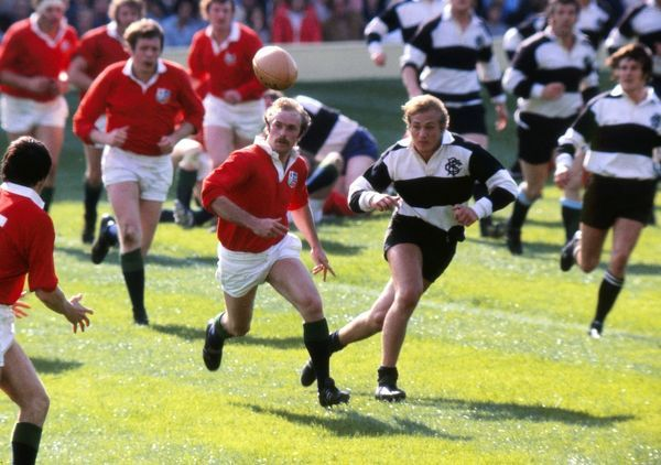 Peter Squires of the Lions and David Duckham of the Barbarians - 1977 Silver Jubilee Match