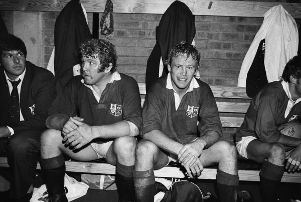 Peter Wheeler and Graham Price after victory in the 4th Test - 1980 British Lions Tour of South Africa