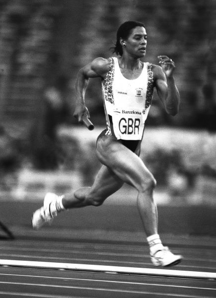 Athletics - 1992 Barcelona Olympics - Women's 4x400m Relay Great Britain's Phylis Smith at the Montjuic Olympic Stadium, Barcelona, Spain.  She was part of the team that won a bronze medal