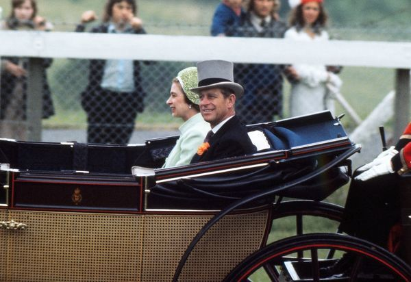 Horse racing : HRH The Queen with Prince Phillip arrive at the races in the Royal Carriage. Royal Ascot 21/06/1973 Credit: Colorsport