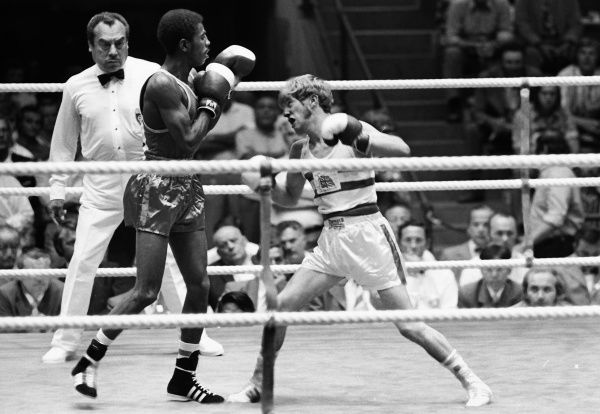 Boxing - 1972 Olympic Men's Light-Flyweight Quarter-Finals - Ralph Evans vs. Chanyalew Haile Great Britain's Ralph Evans (right) takes on Ethiopia's Chanyalew Haile. Evans went on to win the bronze medal in Munich, West Germany