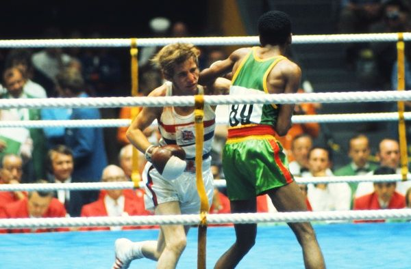 Boxing - 1972 Olympic Men's Light-Flyweight Quarter-Finals - Ralph Evans vs. Chanyalew Haile Great Britain's Ralph Evans (left) takes on Ethiopia's Chanyalew Haile. Evans went on to win the bronze medal in Munich, West Germany
