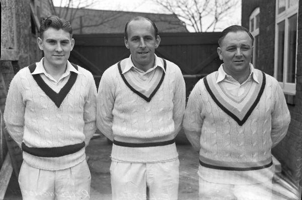 Cricket - Yorkshire C.C.C. 1953 Left to right, Ray Illingworth, Ted Lester and Harry Halliday